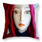Hoodie Chic Throw Pillow