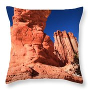 Hoodoo And Towers Throw Pillow