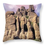 Hoodoo In The Superstition Mountains Throw Pillow