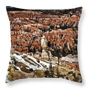 Hoodoos At Bryce Throw Pillow