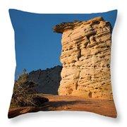 Hoodoos At Sunset Throw Pillow