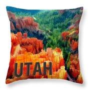 Hoodoos In Bryce Canyon Utah Throw Pillow