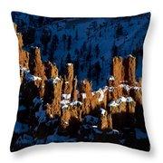 Hoodoos In Shadows Bryce Canyon National Park Utah Throw Pillow