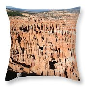 Hoodoos Of Bryce Canyon  Throw Pillow
