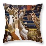 Hook 'em Horns Throw Pillow