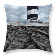Hook Head Lighthouse Throw Pillow