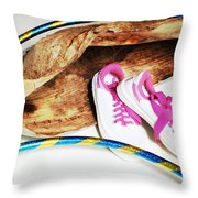 Hoola Hooping Throw Pillow