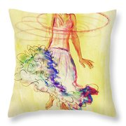 Hoop Dance Throw Pillow by Angelique Bowman