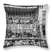Hoop Shots Bw Throw Pillow