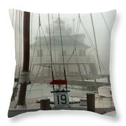 Hooper Straight Lighthouse Throw Pillow