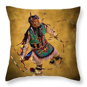 Hooping His Heart Out Throw Pillow