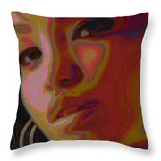 Hoops And Bangs Throw Pillow