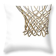 Hoops Anyone Throw Pillow by Karol Livote