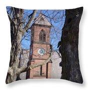 Hoosick Falls Brick Church Throw Pillow