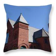 Hoosick Falls Church Throw Pillow