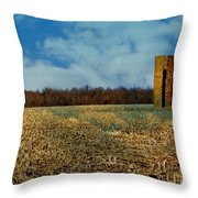 Hoosier Farm Throw Pillow