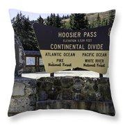 Hoosier Pass Throw Pillow