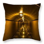 Hoover Dam Art Deco Tunnel Throw Pillow