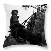 Hoover Dam Climber Throw Pillow