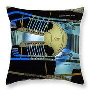Hoover Dam Diagram Throw Pillow