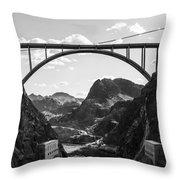 Hoover Dam Memorial Bridge Throw Pillow