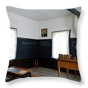 Hoover Historic Site Schoolhouse Classroom Throw Pillow