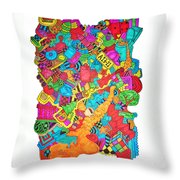 Hooya Throw Pillow