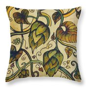 Hop Melody Throw Pillow by Alexandra Ortiz de Fargher