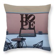 Hope And Chairs Throw Pillow