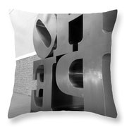 Hope Askew In Black And White Throw Pillow
