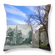 Hope Club And First Unitarian Church In Providence Ri Throw Pillow