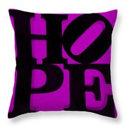 Hope In Purple Throw Pillow