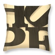 Hope In Sepia Throw Pillow
