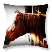 Hope In The Barn Throw Pillow