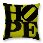 Hope In Yellow Throw Pillow