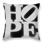 Hope Inverted Black Throw Pillow