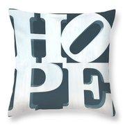 Hope Inverted Denim Throw Pillow