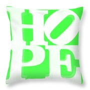 Hope Inverted Green Throw Pillow