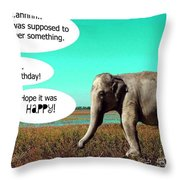 Hope It Was Happy Throw Pillow
