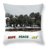 Hope Peace Joy Throw Pillow