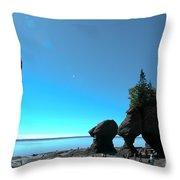 Hopewell Rocks Throw Pillow
