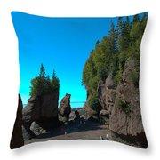 Hopewell Rocks2 Throw Pillow