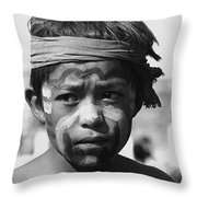 Hopi Annual Indian Inter Tribal Rodeo Gallup New Mexico 1969 Throw Pillow
