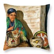 Hopi Basket Weaver Throw Pillow