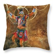Hopi Hoop Dancer Throw Pillow