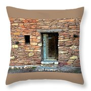 Hopi House Back Entrance Throw Pillow