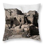 Hopi Hilltop Indian Dwelling 1920 Throw Pillow