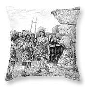 Hopi Indian Snake Dance Throw Pillow