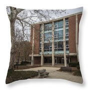 Hopkins Hall And Tree Osu  Throw Pillow