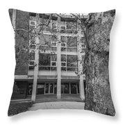 Hopkins Hall Black And White Throw Pillow